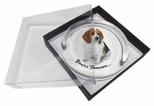 """Beagle Dog """"Yours Forever..."""" Glass Paperweight in Gift Box Christma, AD-BEA4yPW"""