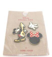 Disney Mickey Mouse 3 Pin Enamel Pin Set Junk Food Nwt Walt Disney Target