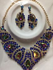 Wedding Prom Quinceanera Necklace Earring Set Stunning Date Night Career Office