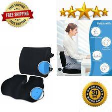 Memory Foam Seat Cushion Lumbar Support for Office Desk Chair Cushions