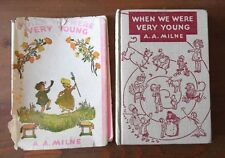 When We Were Very Young AA Milne HC/DJ Revised 1946 Printing  -  N8