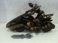 Power Rangers Dino Thunder Raptor Cycle Black complete with weapon 2003 bandai