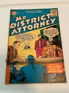VINTAGE 1956 DC Comics MR. DISTRICT ATTORNEY #54 Classic Comic