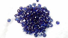 5 mm Round Cut Dark blue Lab Created Sapphire Loose Gemstone. Lot of 2 stones.