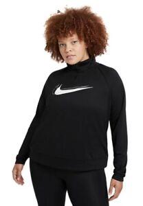 NWT - Womens Plus Size 3X Nike Dri-FIT Swoosh Half-Zip Running Midlayer Top