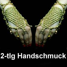 Bollywood Bauchtanz Belly Dance Sklavenarmband Handschmuck Armband Ring Schmuck