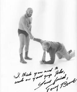 Tough Tony Borne rare autographed 8x10 photo Portland Wrestling legend NWA AWA