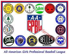 GPBL  All-American Girls Professional Baseball League Logo's 8 X 10  Photo Pic