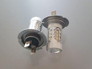 PORSCHE 911 996 1998-2001 SET 2 x H7 CREE 16 LED HEADLIGHT BULBS FOG LIGHTS