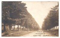 RPPC First Street, Pierceton, IN Real Photo Postcard *5B