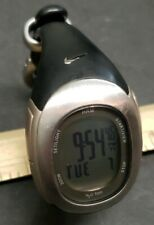 Women's Nike Watch Sm0032 Imara Silver Case Black Band Chrono New Battery