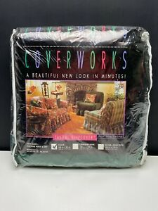 1990s Coverworks Ruffled Protective Chair Slipcover Green Casual New In Package