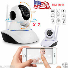 2X Wireless Wifi Camera 720P HD P2P IP Network CCTV Security Camera Night Vision