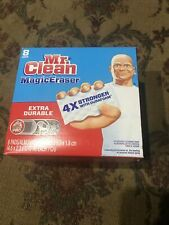8 Pack Mr Clean Magic Eraser Extra Durable, Cleaning Pads with Durafoam