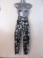 NEW Fleece Lined Army Camoflauge Print Yoga Leggings Pants Winter OS