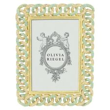 Olivia Riegel Frames- 4x6 Gold Chandler Frame w/ Swarovski Crystals