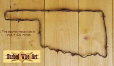 Oklahoma - handmade metal wall decor barbed wire art state western country