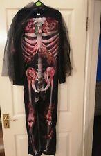 Spectacular Skeleton Halloween Costume NEW Age 11-12 Years
