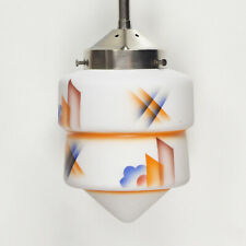 Art Deco Bauhaus Skyscraper Ceiling Light Lamp Airbrush Spritzdekor Suprematism