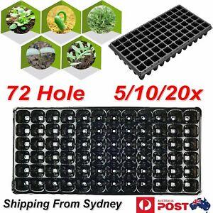 72 Holes Plant Seed Grow Box Insert Propagation Nursery Seedling Starter Tray In
