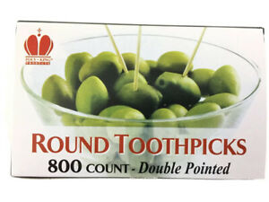 "Toothpicks 2.5"" Round 800ct Wooden Wood Toothpick Oral Care Craft Double Pointed"