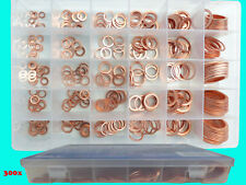 300 Kupferringe Sortiment Kupfer Dichtringe Dichungstringe Ölablass Box