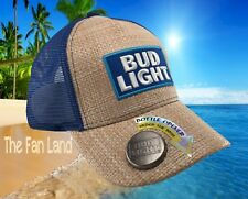 New Bud Light Straw Budweiser Beer Bottle Opener Mens Snapback Trucker Cap Hat