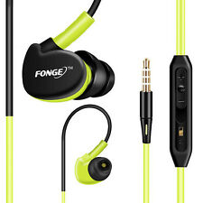 3.5mm With Microphone Bass Stereo In-Ear Earphones Headphones Green Color