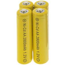 4x AA battery batteries Bulk Nickel Cadmium Rechargeable NI-cd 2800mAh 1.2V Yel