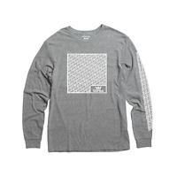 Mens Supra Long Sleeve T Shirt Soleplate Grey 101869-034