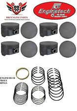 (8) ENGINETECH GM CHEVROLET 4.8 5.3 GENIII GENIV NEW FLAT TOP PISTONS AND RINGS