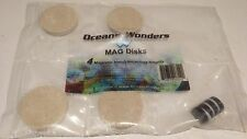 6x Mag Discs Frag Disks Cured Caribsea Reef Sand Best Quality SPS LPS Frag Plugs