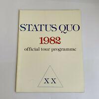 STATUS QUO 1982 XX TOUR 28 PAGE TOUR PROGRAMME