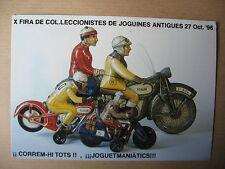 CP  PULICITAIRE MOTOS JOUET TOLE RICO ESPAGNE 1996
