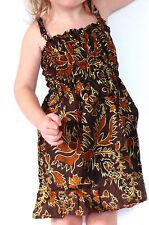 Robe Bébé 6-12 Mois Enfant Ethnique 1 an Batik Vêtement Fille /Réglable/ MARRON