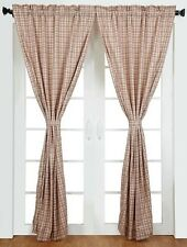 "Tacoma Red Plaid Curtain Panel Set of 2 by VHC Brands - 84 x 40"" Curtains"