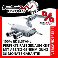 FSW Sport Auspuffanlage komplett ab Kat mittig VW Golf 6 GTI 155 + 173kW