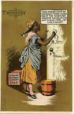 HIGGINS SOAP FOR CLEANING DOORS & BLACK AMERICANA VICTORIAN TRADE CARD
