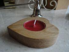 OAK WOODEN CANDLE TEA LIGHTS HOUSE HEART  QUALITY WOOD ART/GIFT VALENTINES