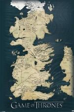 """(24x36"""") Game of Thrones Map TV Poster Art Print World Lands 7 Kingdoms Color"""