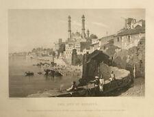 INDIA. THE CITY OF BENARES. 1860. GENUINE ANTIQUE PRINT