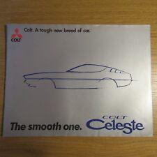 MITSUBISHI Motors COLT CELESTE 1600ST 2000GT 1600cc 2000cc UK Brochure 1975