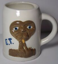RARE OLD VINTAGE 1980s E.T. THE EXTRA TERRESTRIAL MOVIE CERAMIC BEER STEIN MUG