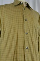 Ermenegildo Zegna Men's Shirt Button Up Sz Large Long Sleeve Check Plaid Casual