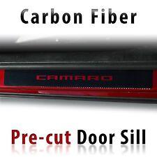 Chevrolet Camaro Door Sill CF Carbon Fiber Decal set pre-cut 2010 & Up