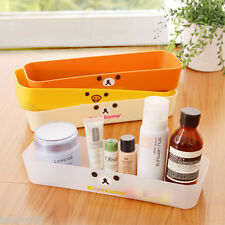 4x Desk Table Makeup Cosmetic Storage Organizer Box Rilakkuma Kuma 4 Colors Cute