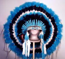 Native American Turquoise Nugget Feather Headdress War Bonnet