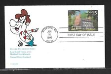 USA 1990 HAND PAINTED ISAAC ROYALL HOUSE RICHARD ELLIS ANIMATED FIRST DAY COVER