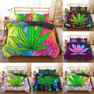 2020 New Product Weed Leaf Bedding Set 100% Microfiber Bedding Set Home