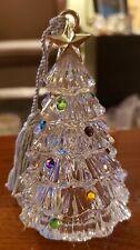 Beautiful Lenox Crystal Christmas Tree Holiday Ornament Jewels & Silver Star